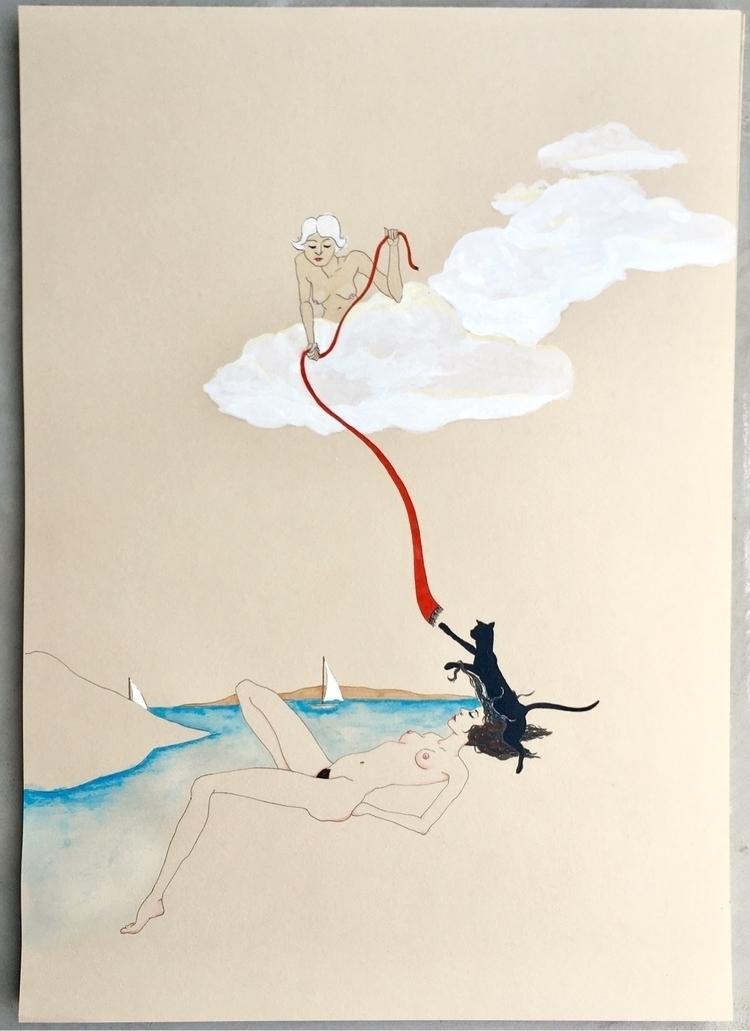 dreamscape - kunst, drawing, malerei - lorettamae | ello