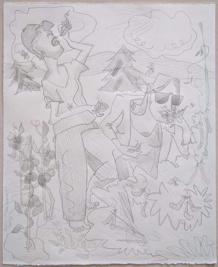 Pea Derangement graphite paper - markbarry | ello