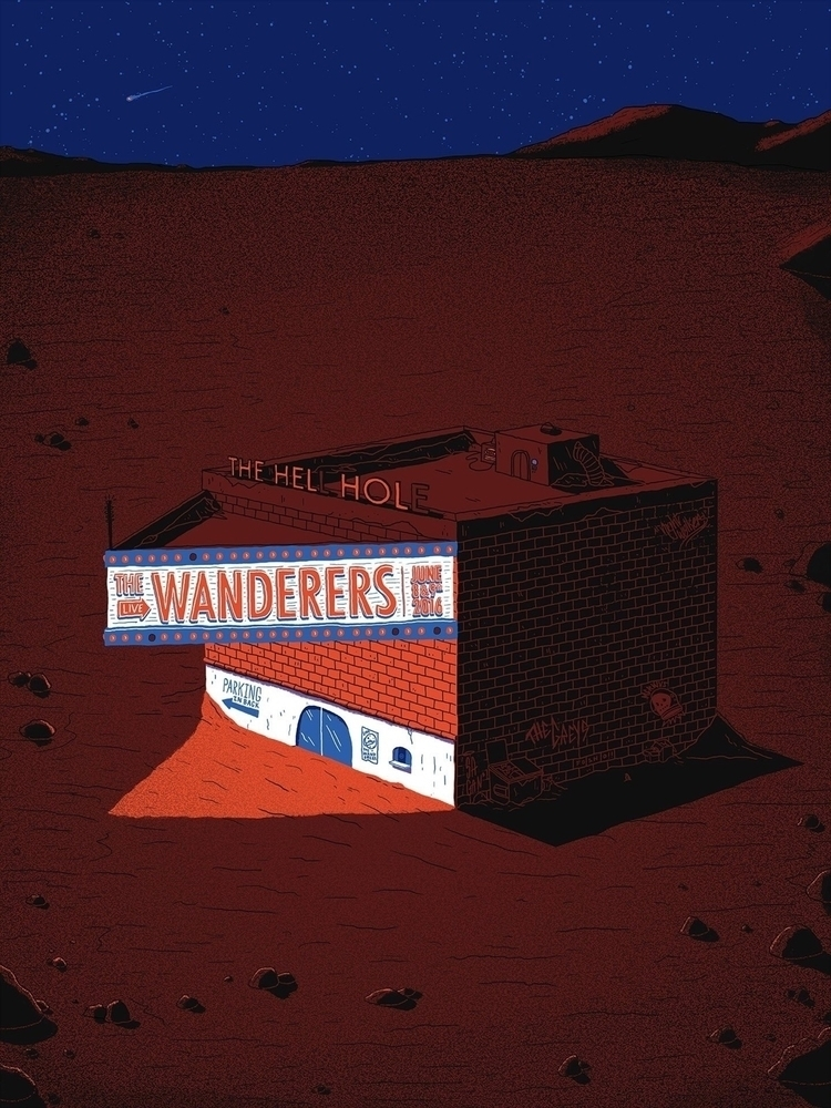 Wanderers - illustration, gigposter - jefflowryillo | ello