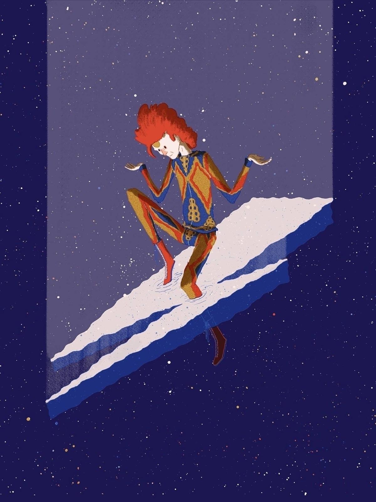Starman Transcends - editorial, illustration - jefflowryillo | ello