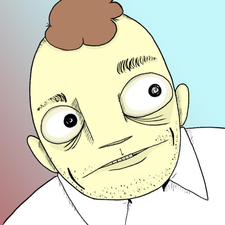 Portrait. Twitter - animatedhughey | ello