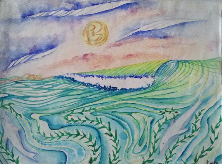 Armonic peace - watercolor, ocean - rinamr | ello