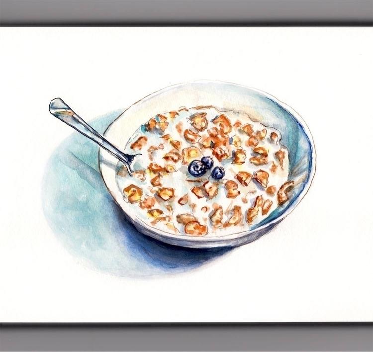 - Day 1 Favorite Breakfast - WorldWatercolorGroup - doodlewash | ello