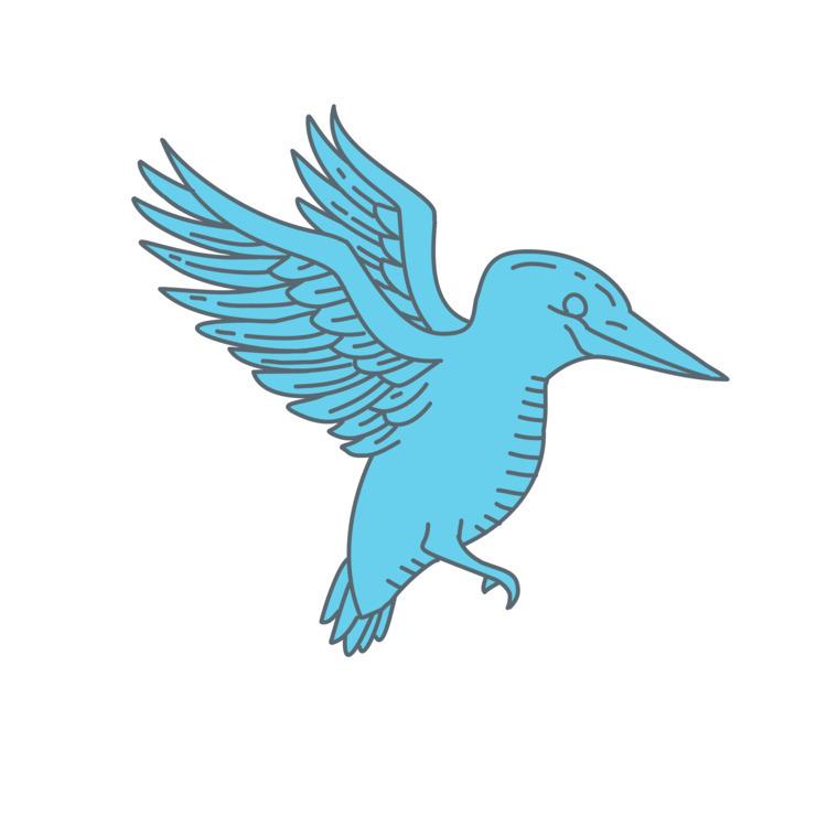Kingfisher#Flying, Mono, Line - patrimonio   ello