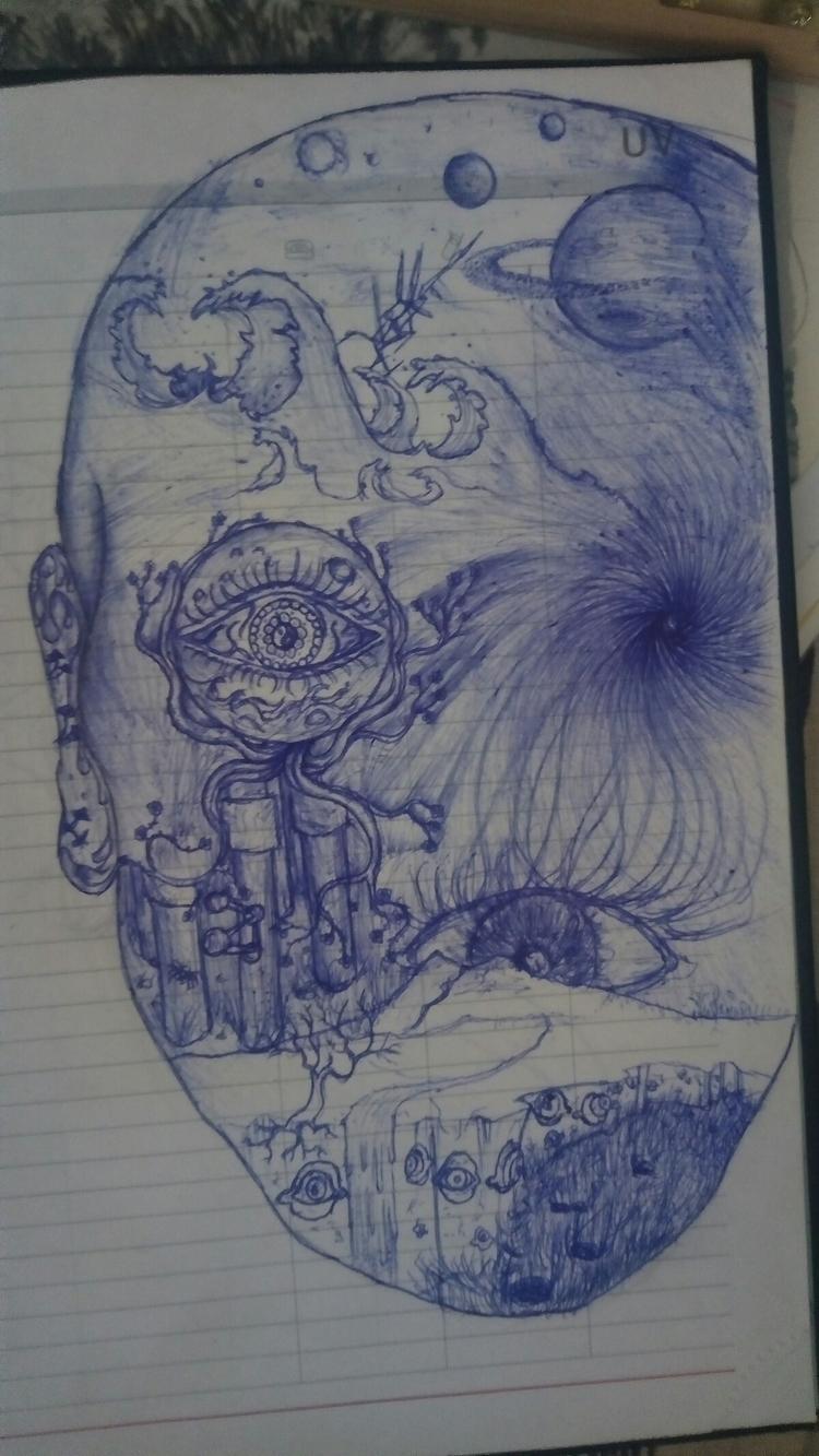 astral trip - draw, pencil, inspiration - darkgoath13 | ello
