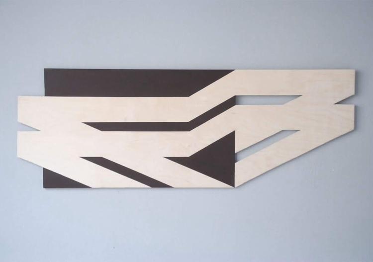 1,25 45cm Acrylic cut wood 2017 - simek | ello