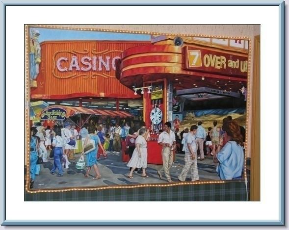 Cowboy Casino, Oil canvas, 4X6f - nancyht | ello