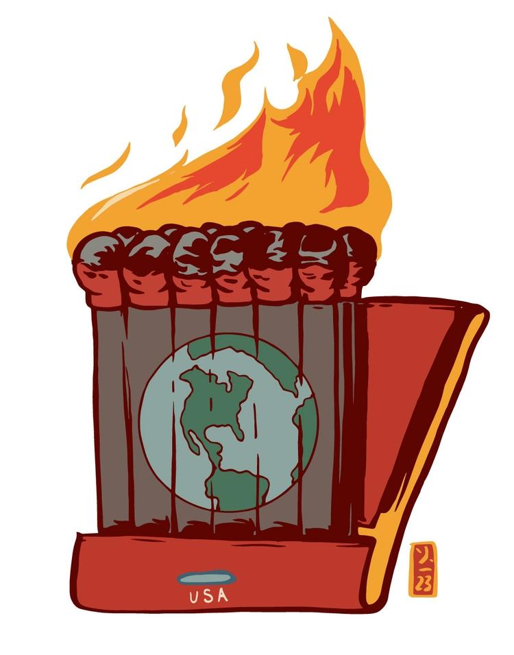Slow Burn - illustration - thomcat23 | ello
