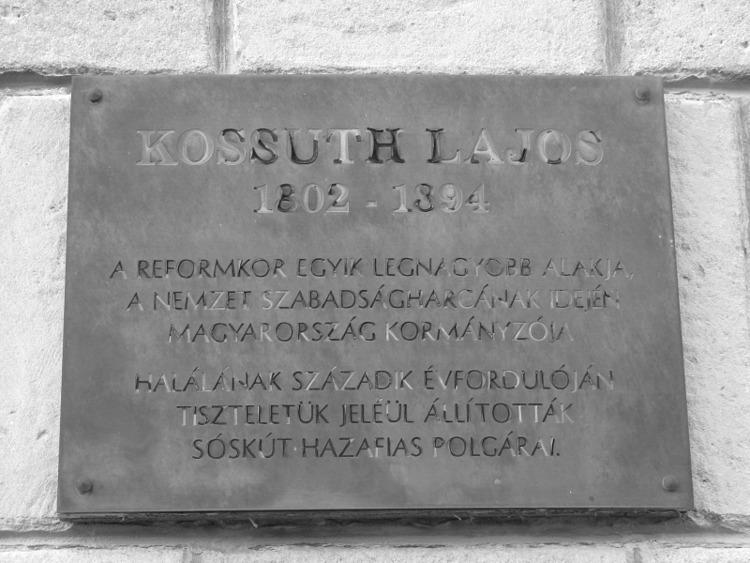 Kossuth Lajos emléktábla (Sóskú - turabazis | ello