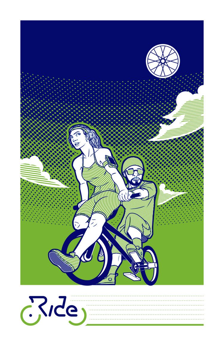 Ride - cycling poster Pinchflat - cwilz305 | ello