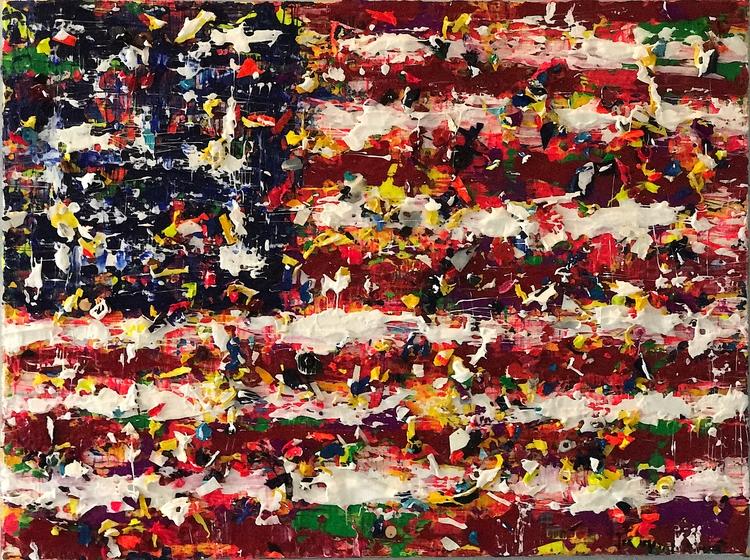 """flag 16""""x12"""" acrylic canvas $30 - nuisms   ello"""