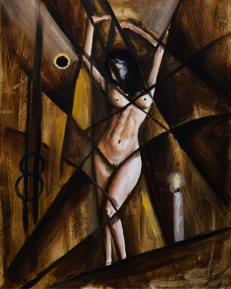 Nude - art, painting, abstract, oilpainting - ovidiuprotopopescu | ello