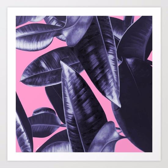 Rubber Plant Pink / Seamless Il - lostanaw | ello