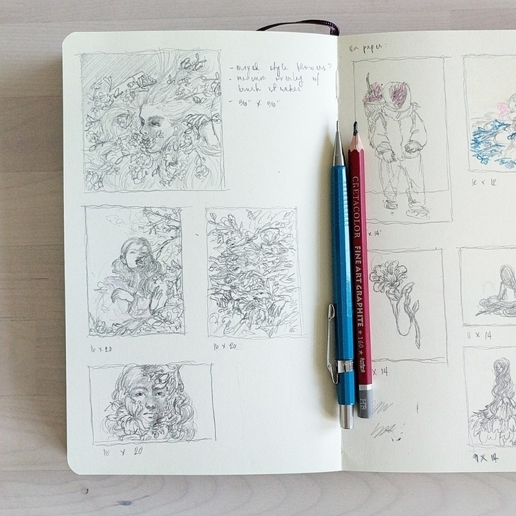 Sketches upcoming paintings - florencesolis | ello