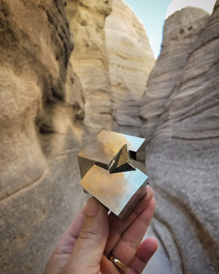Massive Pyrite cube twin Navaju - themineralcollective   ello