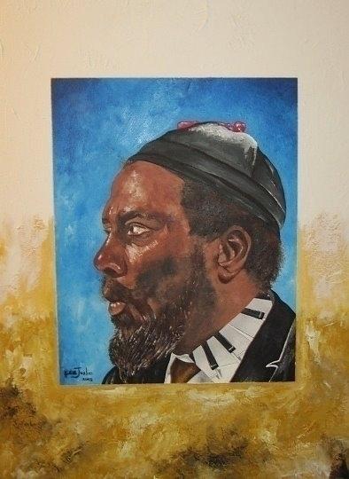 Thelonious Monk 24 18 3/4 Acryl - kenjoslinjazzart   ello