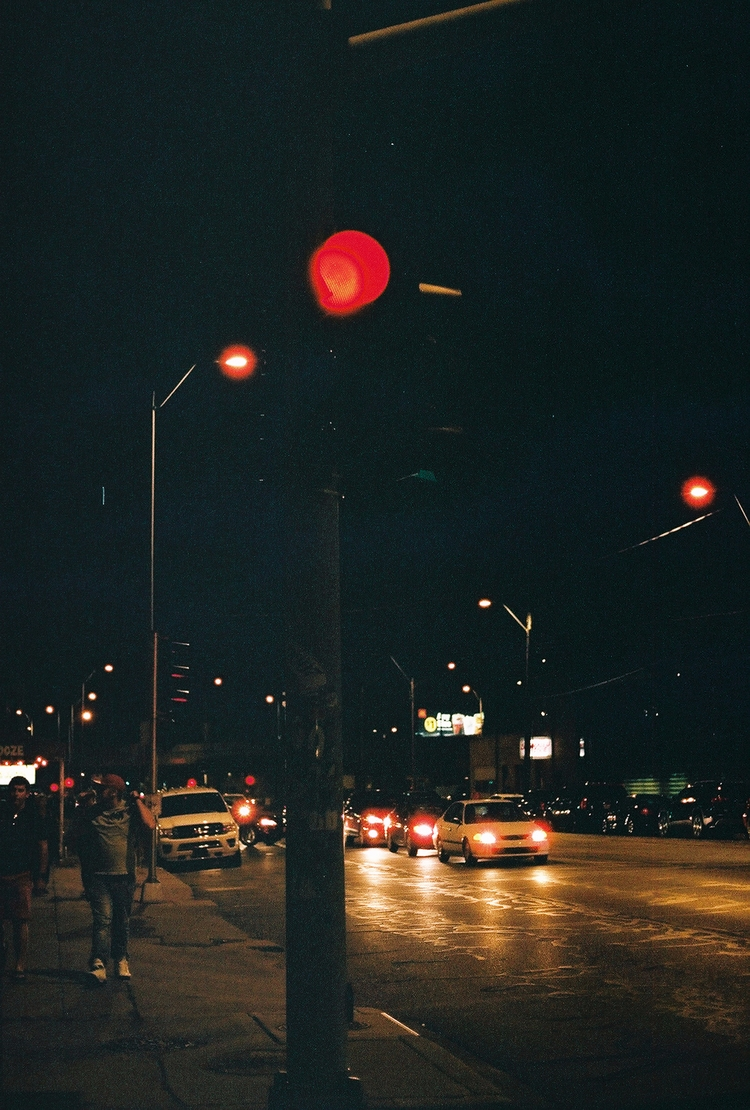 Stop - 35mm#nightwalk#summernights#lights#stoplights#KCMO - ethelalegria | ello
