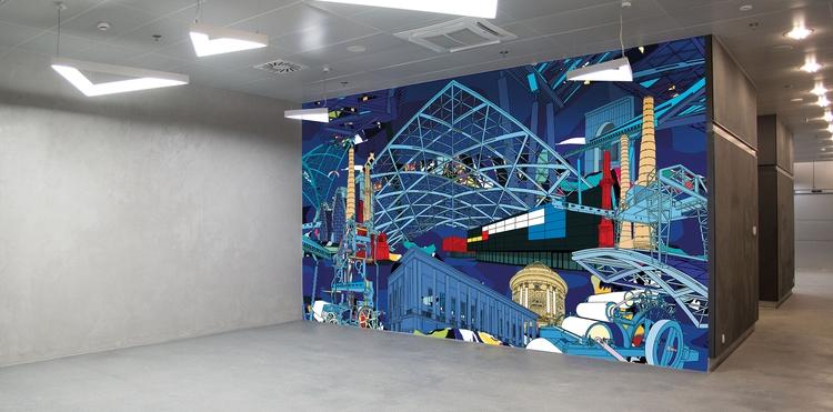 mural,, design,, lodz,, lodzfabryczna, - cityabyss | ello