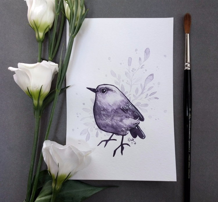 bird real amethyst paint! love  - ellenwilberg | ello