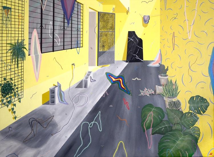 Home 3'x4' Acrylic Canvas 2016  - paksiw   ello