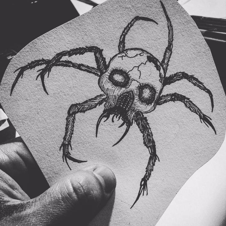 Skull Spider - ink, tattoos, inked - rotserp | ello