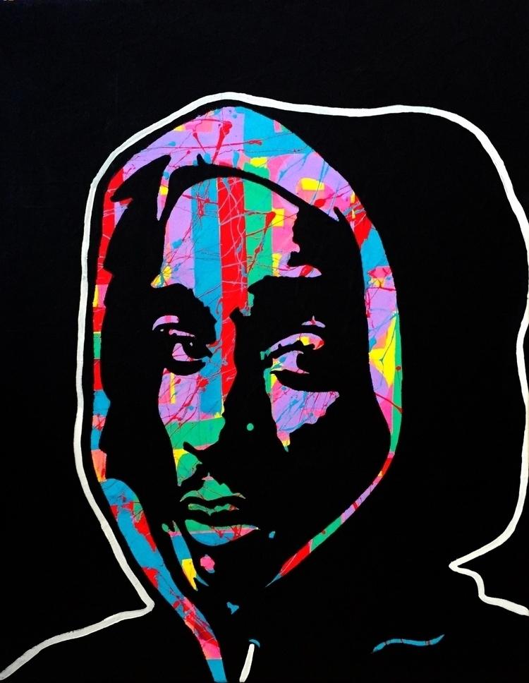 Young Poet acrylic canvas, 18x2 - graffitiegypt_ | ello