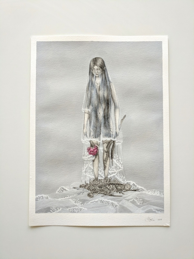 Offering, 11 15, Mixed media pa - florencesolis | ello