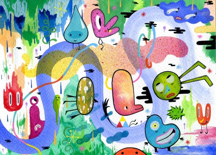Parraplas Acrylic, watercolor i - imanolnaizni | ello