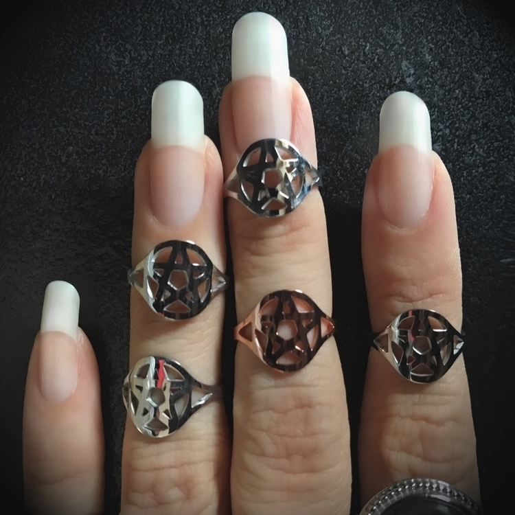 Pentacle released Steel Rose Go - evil_pawn_jewelry | ello