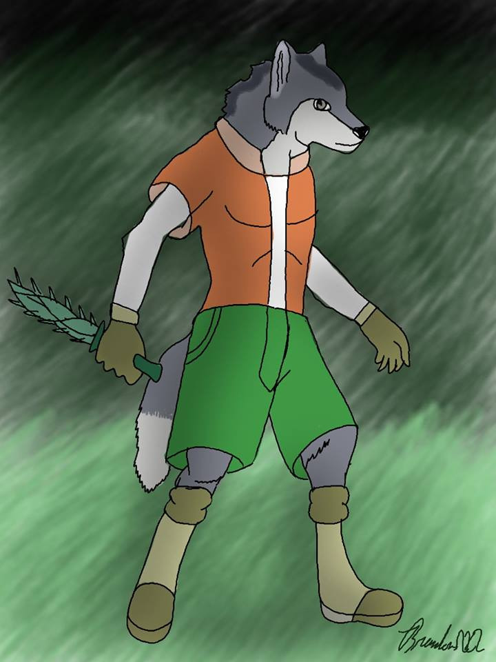 Gray Wolf Assassin wise poweful - brandon_omega-x | ello