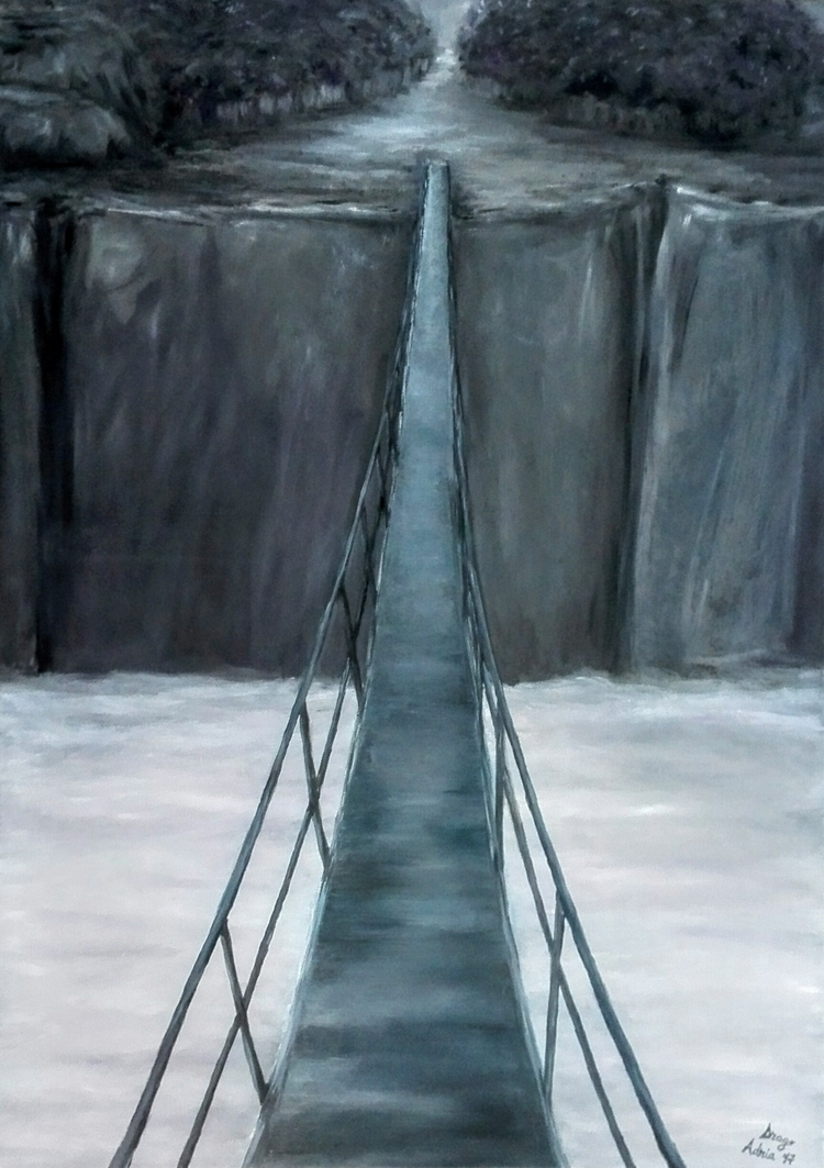 Crossing, oil canvas Submitted  - dragoadria | ello