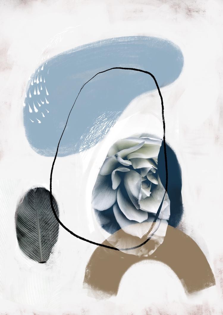 abstract, flower, floralart, midcentury - chrissyink | ello