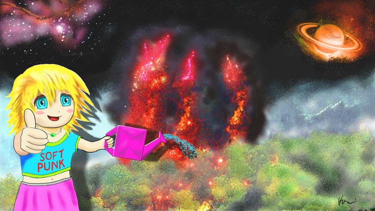 Fire fighting! stop global warm - kamuikurosawa | ello