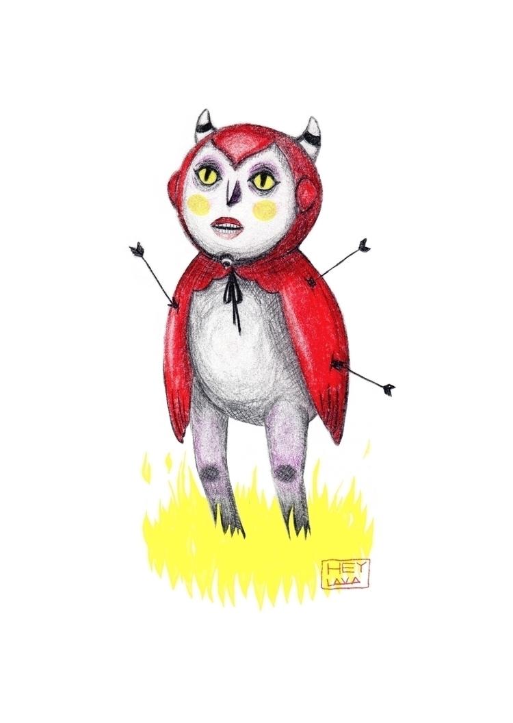 'Devil' Graphite pencil paper d - heylava | ello
