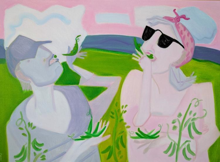 Pea Gothic oil/canvas 32x44 - markbarry | ello