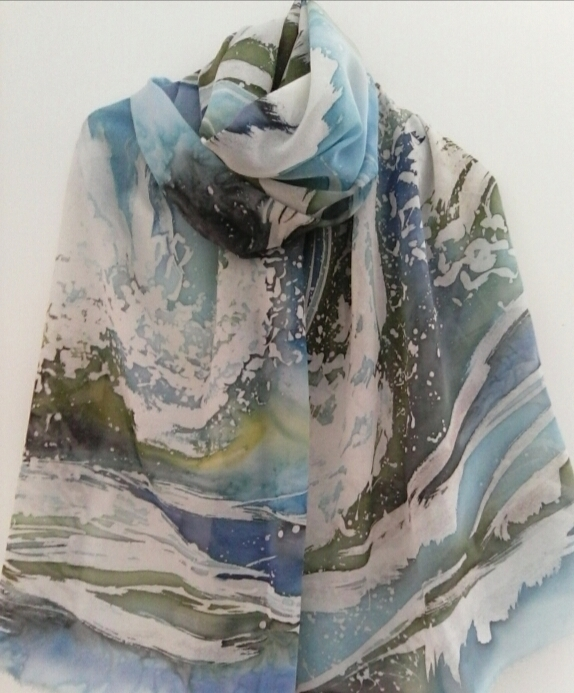 Scarf Navy blue Hot Batic Size - katerina08 | ello