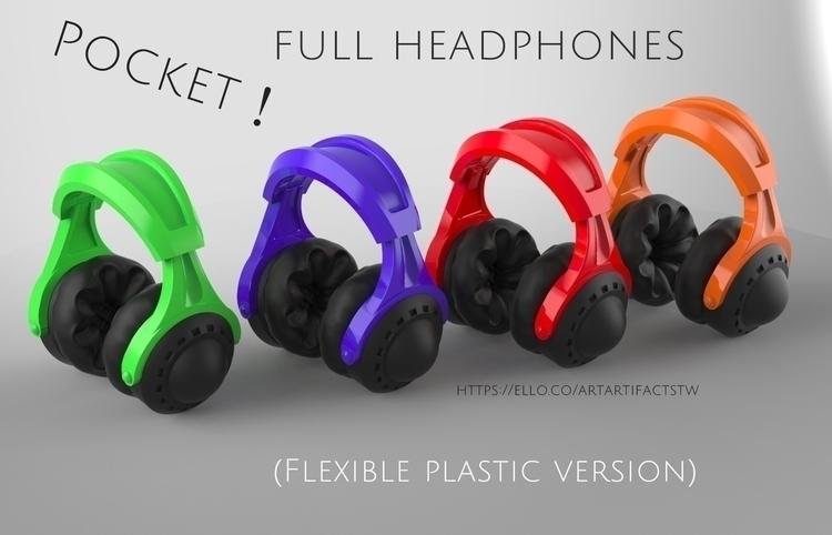 Pocket full headphones - (Flexi - artartifactstw | ello