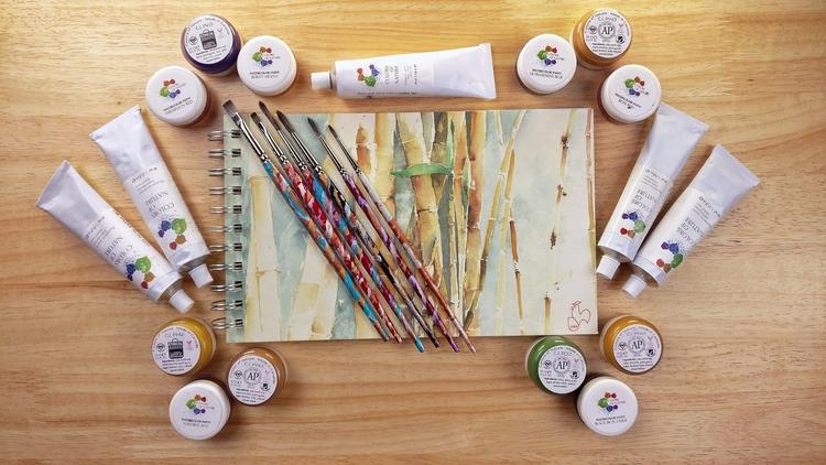 vegan oil paints, watercolors,  - silviawood | ello
