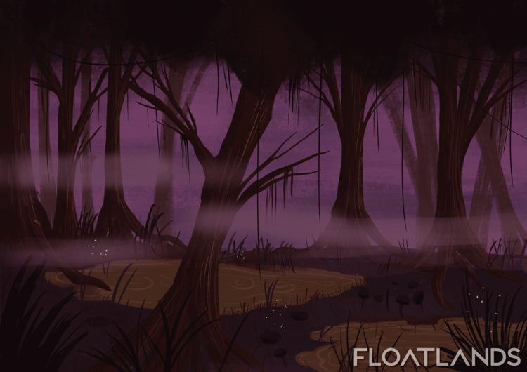 prepared concepts swamp biome - 3D - floatlands   ello