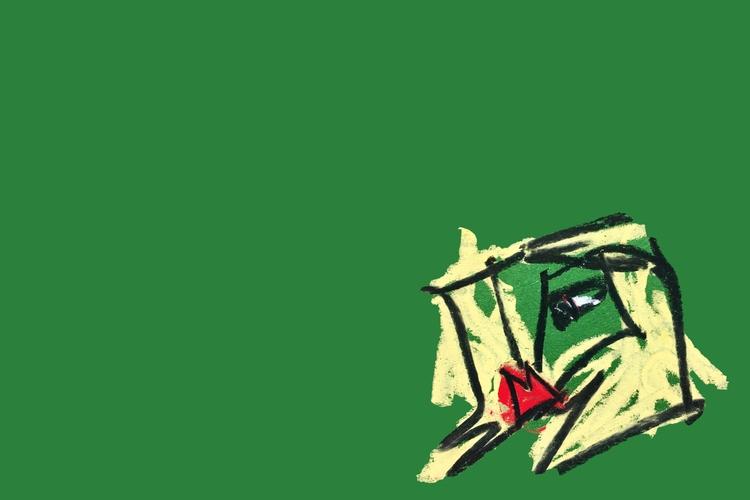 Girl, IV green - art, drawing, design - jkalamarz | ello