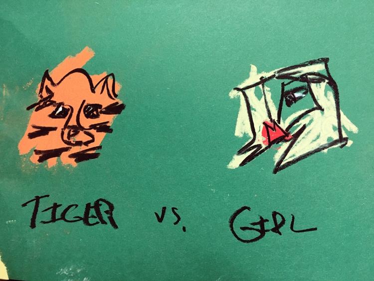 TIGER GIRL - lofi, art, drawing - jkalamarz | ello