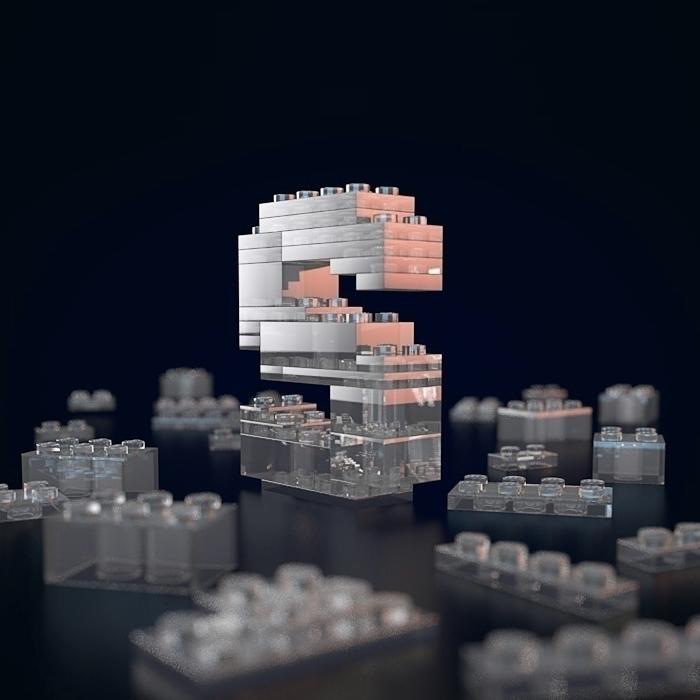 Lego Letters  - lego, render, arnold - mihaidaniel | ello