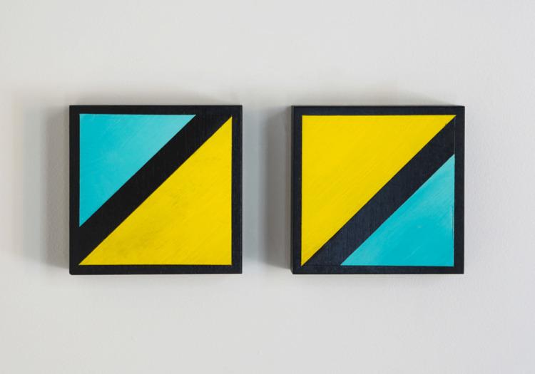 Triangle, Rhombus Oil 8x8 birch - gaebcardinale | ello
