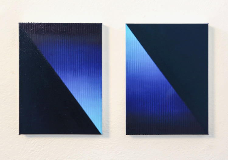Paycheck Oil 9x12 canvas (pair - gaebcardinale | ello