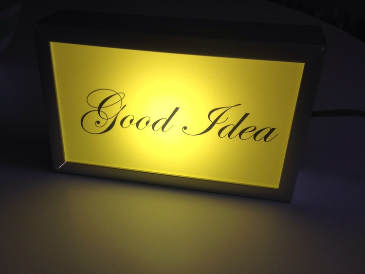 good night GOOD IDEA lightbox!  - nathaliequagliotto | ello