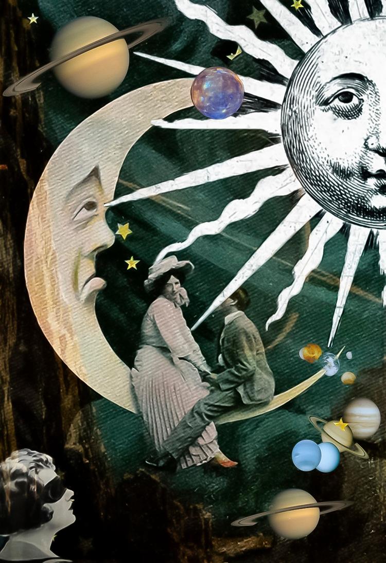 total eclipse heart - collage, digitalcollage - franalvez | ello