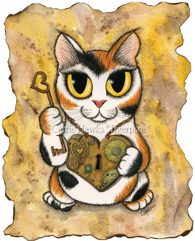 Steampunk Valentine 8x10 Acryli - tigerpixie | ello