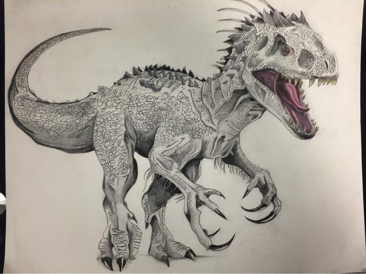 Indominus Rex drawing - tontolizer | ello