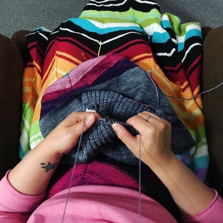 Late night stitching - knitting - misocraftyknits | ello