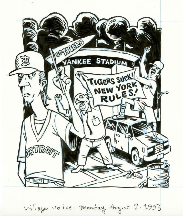 Yankee Stadium illo VILLAGE VOI - dannyhellman | ello